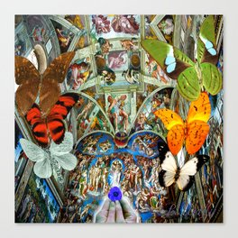 Butterfly in Cappella Sistina SistineChapel Canvas Print
