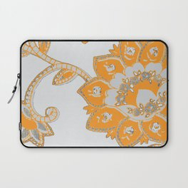 vintage paisley orange/grey Laptop Sleeve