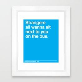 Bus Strangers Framed Art Print