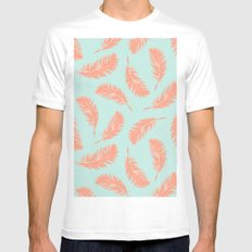 Summer feathers White MEDIUM Mens Fitted Tee