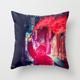 Urban Rebellion by GEN Z Throw Pillow