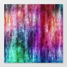 Melting Rainbow Watercolor Abstract Canvas Print