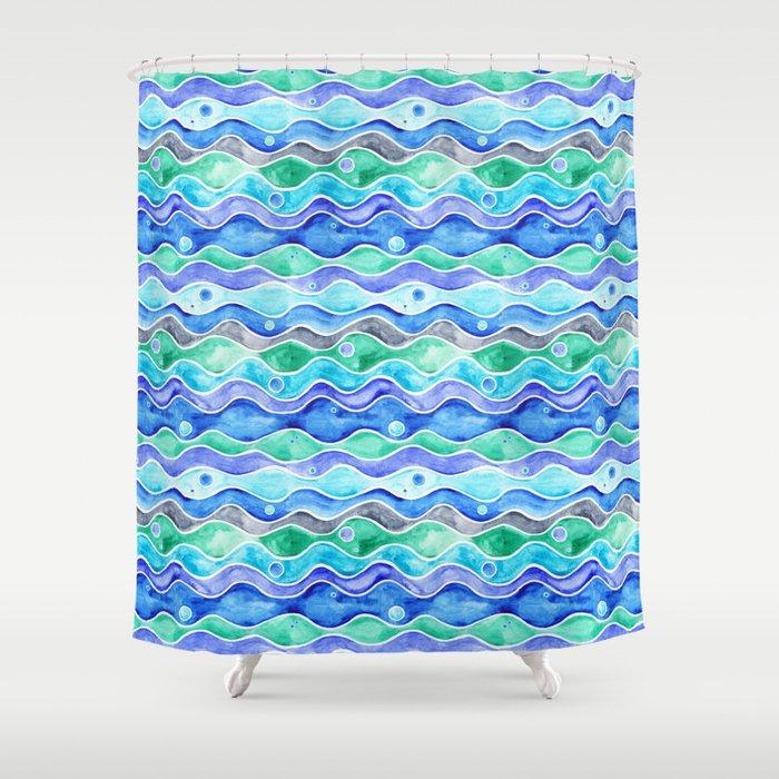 Ocean Pattern - Dolphin Shower Curtain