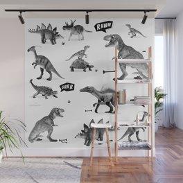 Dinosaur Hunt Wall Mural