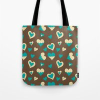 baloon Tote Bags featuring Baloon Heart by GrapeDiva