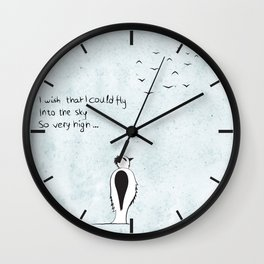 I wish that I could fly Wall Clock