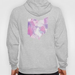 Watercolor State Map - Ohio OH purples Hoody