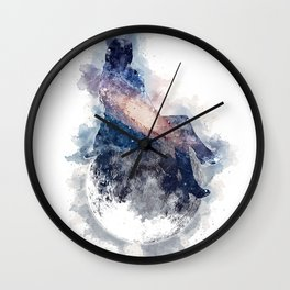 Chillin` on the Moon Wall Clock