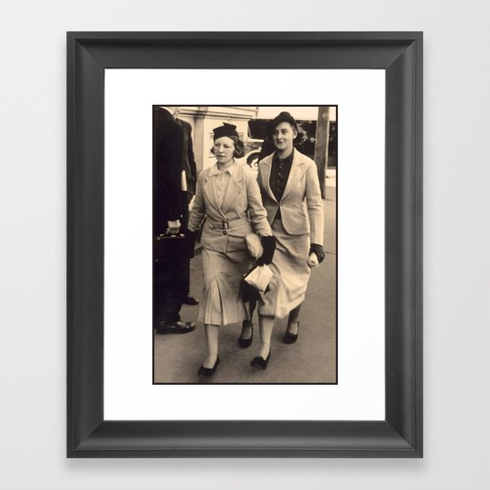 Caught off guard by a street photographer - the war years Framed Art Print