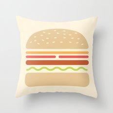 #62 Hamburger Throw Pillow