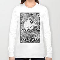lichtenstein Long Sleeve T-shirts featuring Zentangle Lichtenstein by butterflyandbear