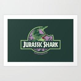 Jurassic Shark - Edestus shark Art Print