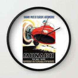 1955 Monaco Grand Prix Race Advertising Poster  Wall Clock