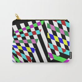 Lost Dimension - Abstract 3D style, multicoloured, geometric artwork Carry-All Pouch