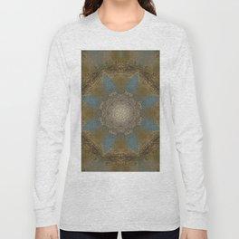 Gold Liquid Turquoise Star Elegance Long Sleeve T-shirt
