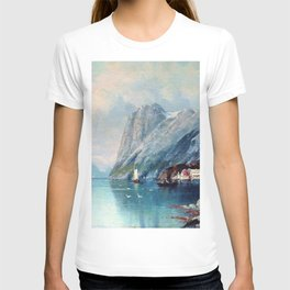 Fjord In Norway 1899 By Lev Lagorio | Reproduction | Russian Romanticism Painter T-shirt
