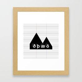 Reykjavik Boulevard #02 Framed Art Print