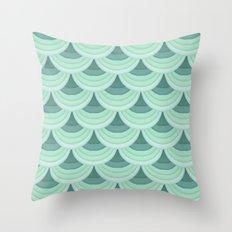 Ocean Fan Tail. Throw Pillow