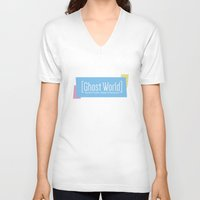 ghost world V-neck T-shirts featuring Ghost World by Nihilist