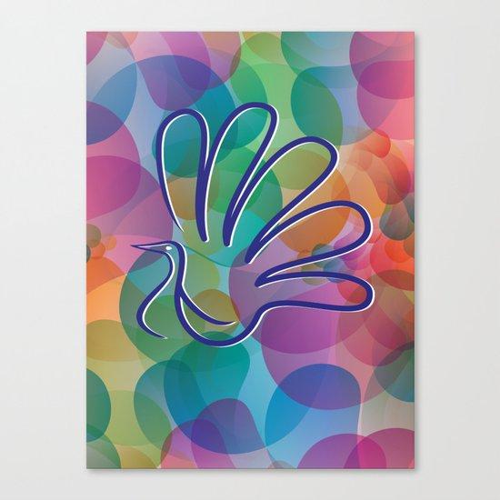 Peacock - Five-finger gloves Canvas Print