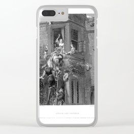 Attack and Defend Clear iPhone Case