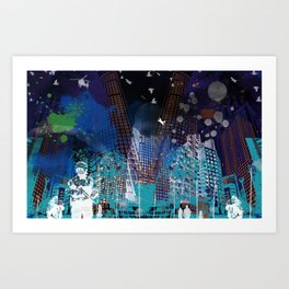 A tale of two cities 2 Art Print
