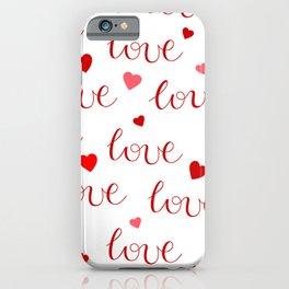 Valentine's Day LOVE iPhone Case