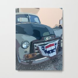 Vintage GMC: car photography Metal Print