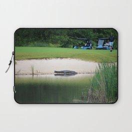 Alligator Waiting On Golfer Laptop Sleeve