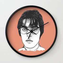Liam Gallagher - Brit Pop Art - Orange Wall Clock