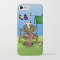 sheep iPhone & iPod Cases featuring Sheep by Anna Shell