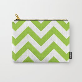 Large chevron pattern / yellow green Carry-All Pouch