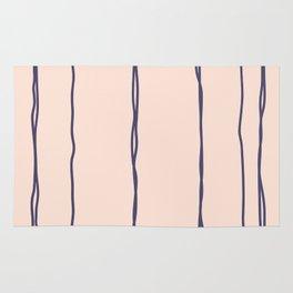 Vertical Lines Purple Beige Rug
