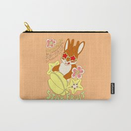 Jackalope and Starfruit Carry-All Pouch