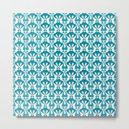 Vintage pattern turquoise Metal Print