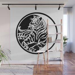 Tiger Tattoo - Black Wall Mural