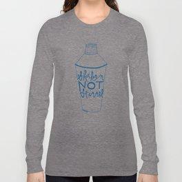 shaken in navy Long Sleeve T-shirt