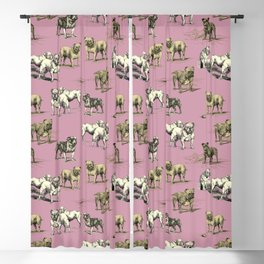 Bulldogs funny pattern Blackout Curtain