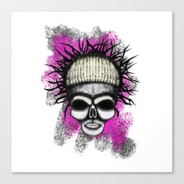 Yolandi style ErrorFace Skull Canvas Print