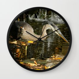 Stalking the pond Wall Clock