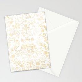 Vintage Floral Pattern White Wash Stationery Cards