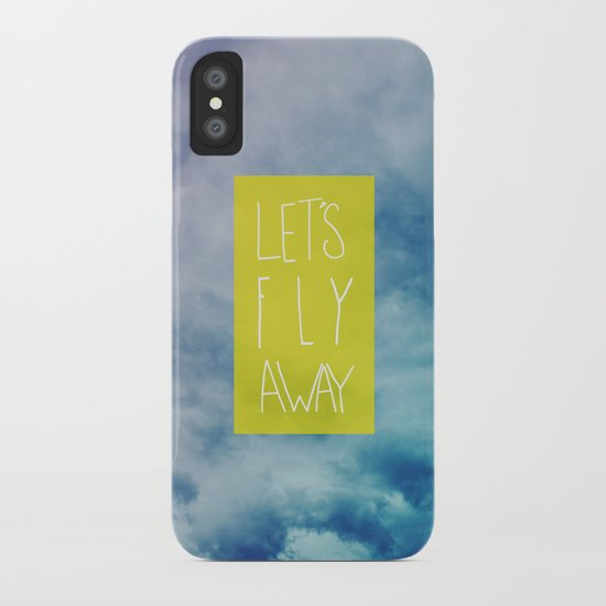 Let's Fly Away iPhone Case