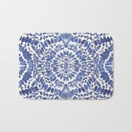 Abstract Indigo Pattern No.1 Bath Mat