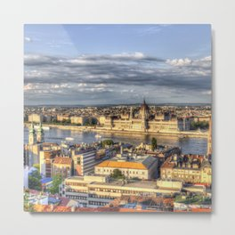 Budapest City View Metal Print