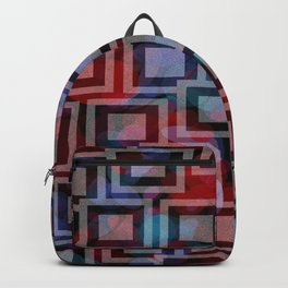 Black and White Squares Pattern 01 Backpack