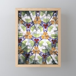 KALEIDOSCOPE FRACTAL PATTERN Framed Mini Art Print