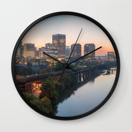Richmond VA Sunrise Wall Clock