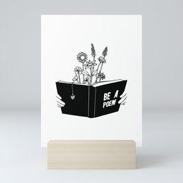 Be a Poem Mini Art Print