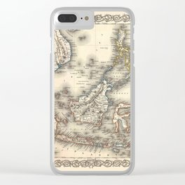 Map Of The East Indies 1855 Clear iPhone Case