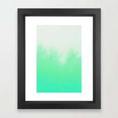 Out of focus - cool green Framed Art Print